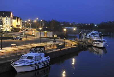 Carrick on Shannon at night
