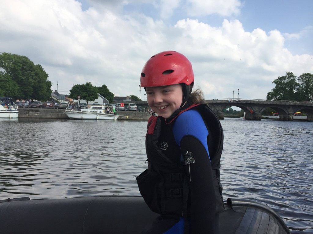 Banana boating - family activity in Carrick on Shannon