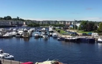 Balcony view of the River Shannon